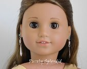 Chic Ear Dangles for 18 inch Girl Dolls, 18in accessory, dramatic glamour jewelry, American Made