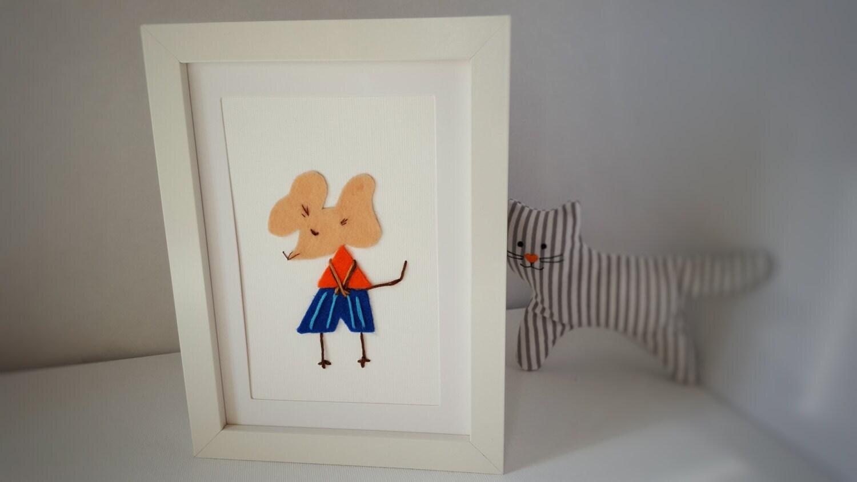 nursery wall with mouse lovely nursery decor baby