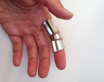 Medium Sterling Silver + Brass Ring