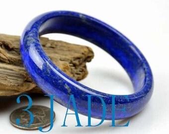 60.5mm Rare Natural Lapis Lazuli Gemstone Bangle Bracelet -C035047