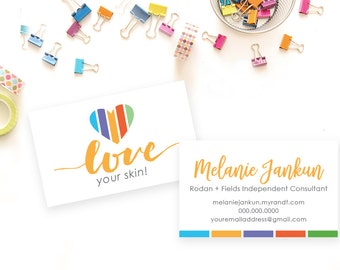 Rodan and Fields Business Card, Digital File, Personalized