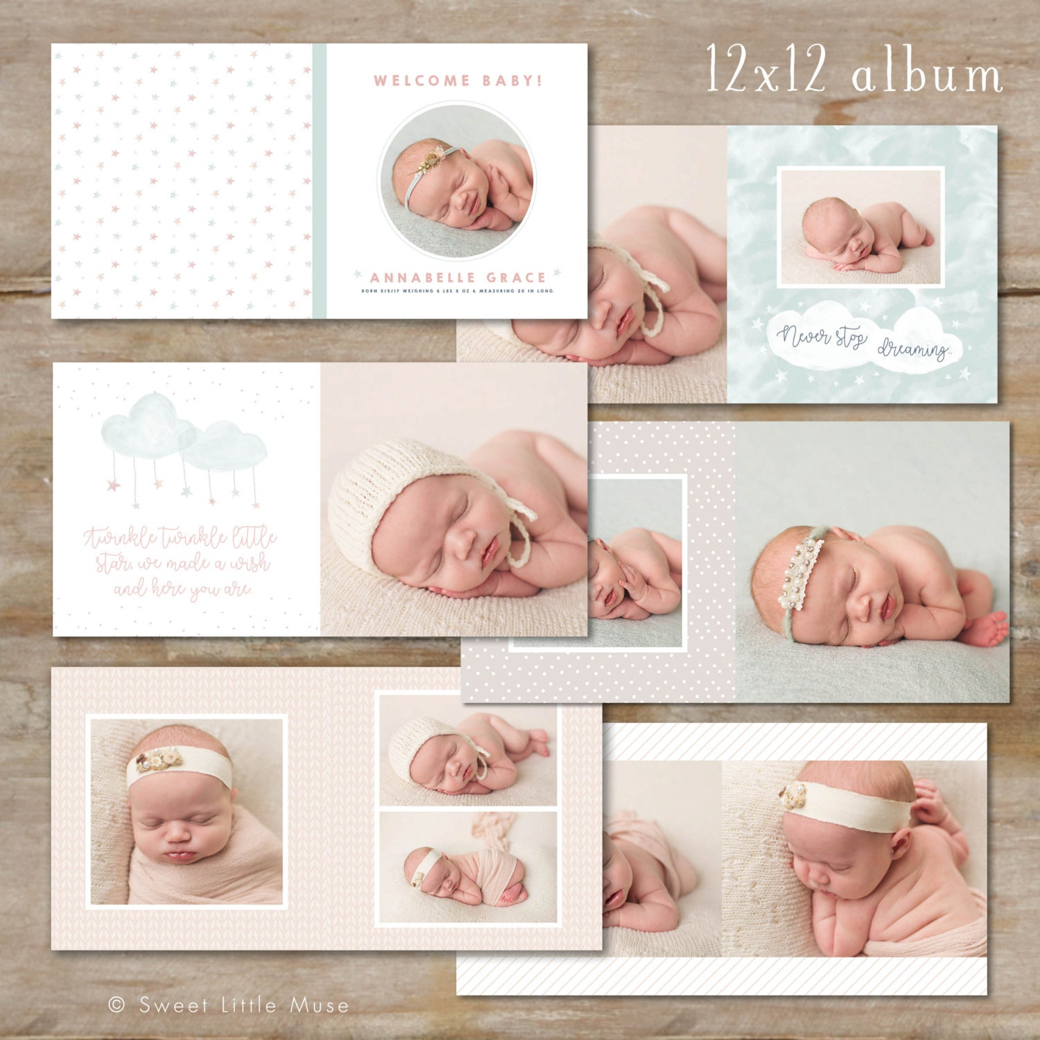 Photo Album Examples: Baby Album Template For Photographers Baby Photo Book