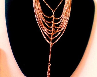 18K Gold Plated Multi Layered Bib Necklace