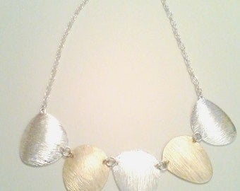 Silver and Gold Two-Tone Necklace