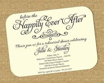 DIY Printable Wedding Rehearsal and Dinner Invitation | Elegant | Formal | Classy | Reheasal Invite | Dinner Invite