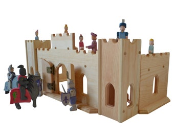 Wooden Play Castle-Waldorf Toy Castle-Montessori Castle-Child's Play Castle-Wooden Knight's Castle- Pretend Castle