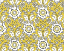15% OFF 1/2 yard Parisian by Chelsea Anderson for Riley Blake Scroll Yellow
