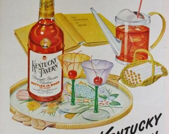 1949 ad Kentucky Tavern Bourbon Whiskey Whisky-Perennial Favorite-Vintage Print ad ETK205