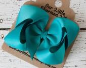Teal Hair Bow,Blue Hairbow, Blue Boutique Hair Bow, Blue Bow, Blue Hair Clip, Blue Hair Bow, Toddler Hair Bow, Teal Hair Clip