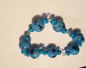 Blue Chinese Bracelet