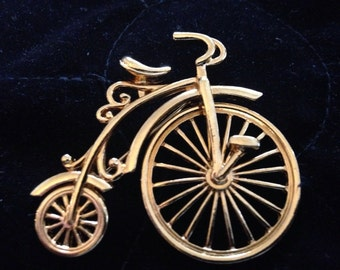 Old Fashion Bicycle Brooch