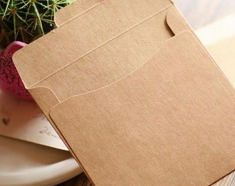 20pcs - Kraft Paper CD DVD Envelope Sleeve Packing Bag (250g Thick Paper)