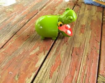 Vintage Wooden Hippon Figure - Alica Hippo figure