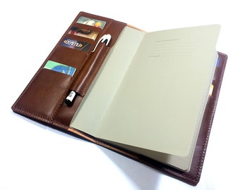 Leather Notebook cover-  Moleskine Large  leather cover- Handmade notebook cover