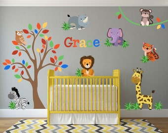 Jungle Nursery Decor Jungle Wall Decals Safari Wall Decals - Nursery wall decals jungle