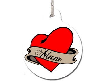 Gift For My Mum - Mum Tattoo Pet ID Tag | FREE Personalization