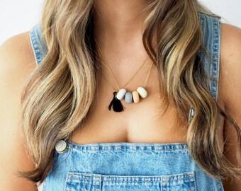 Hokey Pokey Clay Bead Gold Chain Necklace