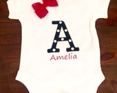 Personalised letter and name 1x bodysuit or 1x t-shirt only or 2 bibs any names or design your own