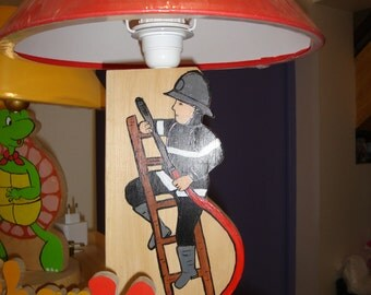 Firefighter bedside lamp