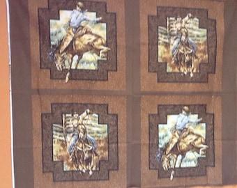Horses pillow panel