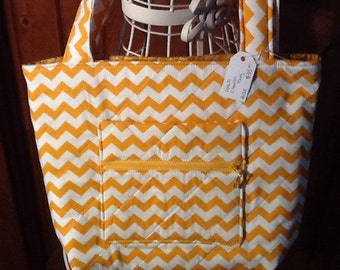 Gold Chevron Handbag on sale