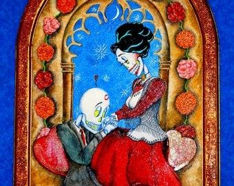 Day of the Dead/ Dia de Los Muertos Print - Amor Eterno by Lisa Cabrera