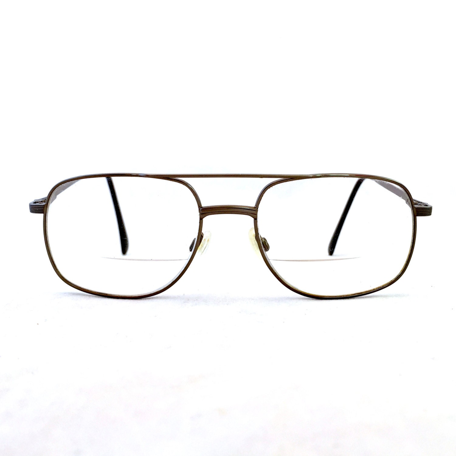 Vintage Aviator Mens Eyeglasses Bronze Frame Prescription