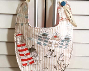 Nautical Seaside Holiday | Reversible Baby Bibs