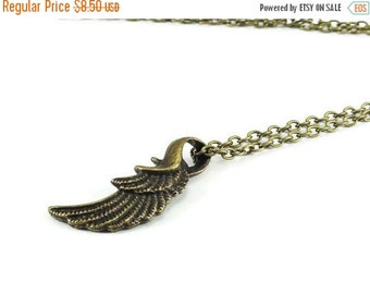 On Sale Wing Necklace Brass Bronze Chain