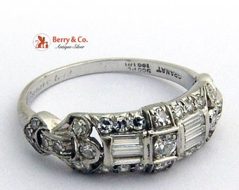 SaLe! sALe! Art Deco Diamond Platinum Ring Granat Brothers