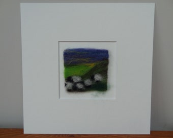 Needle Felted Sheep On The Hill