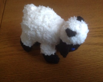 Hand knitted sheep