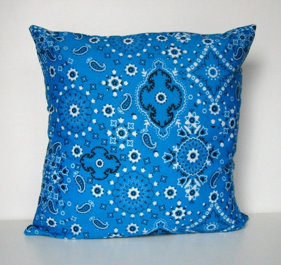 Throw Pillows Emoji : Items similar to Bandana Pillow Cover, Throw Pillow, Pillow Cover, Envelope Closure, Bandana ...