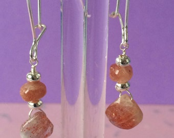 Sunstone earrings