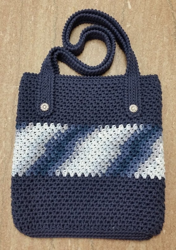 Crochet Easter Bag Pattern : Crochet Pattern Everyday Bag Cotton by CraftingMyChaos on Etsy