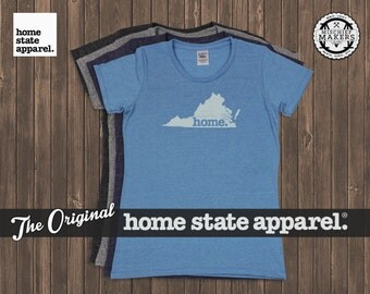 Virginia Home. T-shirt- Womens Cut