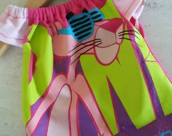 Upcycled Girl Waldorf Dress Fits 15 Inch Doll  Pink Panther