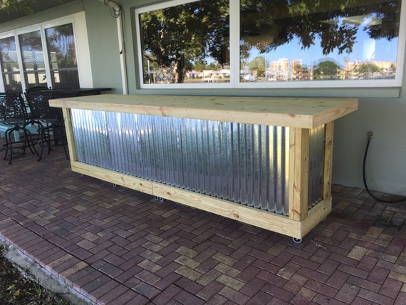 The Beer Pong 12 Corrugated Metal Rustic Outdoor Patio