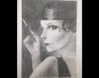 flapper portrait print