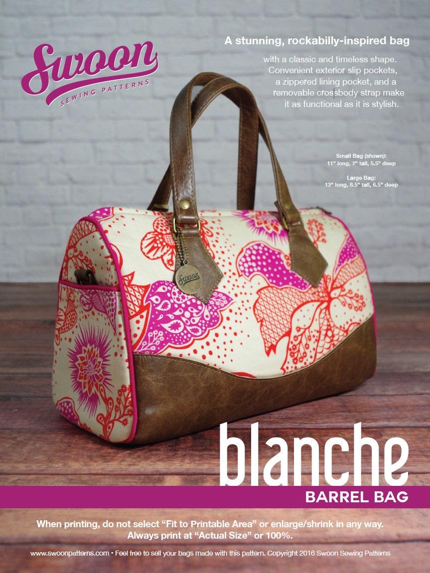 Swoon Patterns Blanche Barrel Bag Pdf Vintage Bag Purse