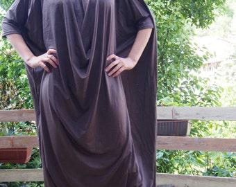 Maxi Dress, Plus Size Jumpsuit, Extravagant Loose Jumpsuit,  Casual Drop Crotch PantsP & Nara POT006