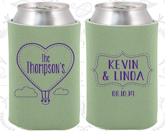 Love is in the Air Favors, Wedding Decoration, Hot Air Balloon Favors, Love Wedding Favors, Wedding Can Coolers (228)