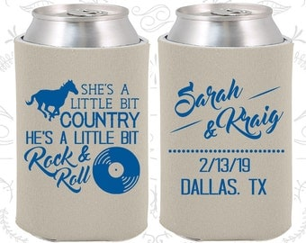 She's a Little Bit of Country, He's a little bit of Rock and Roll, Wedding Gift Idea, Country Wedding Gift, Rock and Roll Wedding Gift (468)