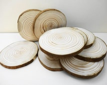 """6"""" Tree Slices,Wood Slices, Tree Trunk Slices, Wedding Decor, Woodworking, Reclaimed  Wood, Tree Slices, Tree Trunk Slices, Stump Slices"""