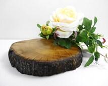 "9"" x 7.5"" Wood Slab, Wood Slice, Tree Slice, Stump, Tree Trunk Slice, Centerpiece, Stand, Charger, Reclaimed Oak Wood Slice"