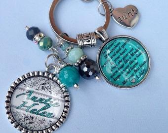 Personalized Bezel Keychain/mother/Aunt/Sister/Grandma