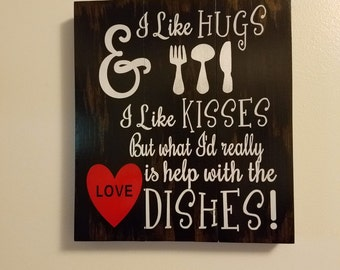 Help with the Dishes Sign