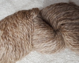 Camouflage Hand Spun Grey Natural Border Leicester with Lanolin -  8 ply DK