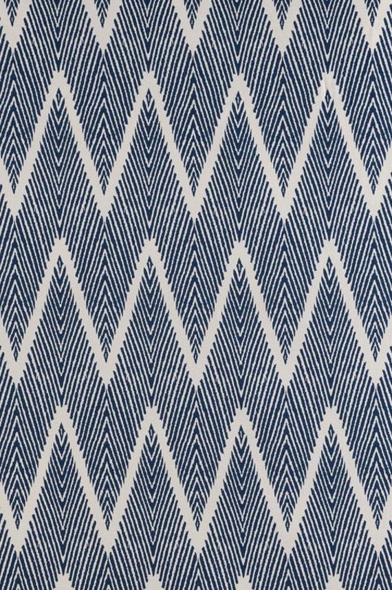 15 off blue ikat home decor fabric designer fabric - Home decor designer fabric ...