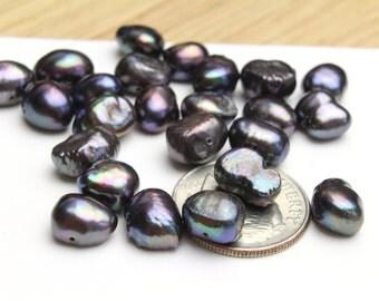 Natural Freshwater Dark Grey Pearls 5x10mm 12pcs